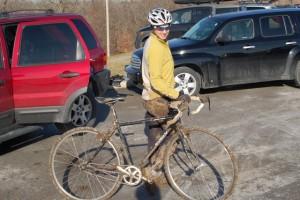 Post-ride mud
