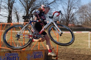 Kristen @ full-speed over the barriers