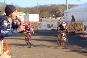 Kristen in a sprint for the finishline