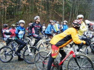 A cold, wet starting line