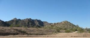 Random mountains of area